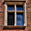 Window of a medieval building — Stok fotoğraf