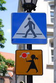 Pedestrian sign in the street — Stock Photo