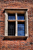 Fenster eines mittelalterlichen gebäudes — Stockfoto