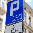 Stock Photo: Sign for disabled parking