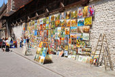 Picture Gallery at Florian Gate in Cracow — Stock fotografie