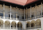 Renaissance courtyard of Wawel royal castle — Stock Photo