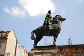 雕像的国王瓦迪斯瓦夫 jagiello — 图库照片