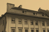 Old style photo of home in Krakow — Stock Photo