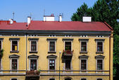 House on the old city in Cracow — Stockfoto