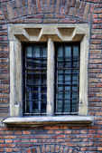 Window of a medieval building — Stock Photo