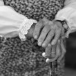 Closeup of a senior woman's hands — Stock Photo