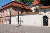 Square them. father Adam's Studzinski in Cracow — Stock Photo