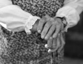 Closeup of a senior woman's hands — Foto Stock