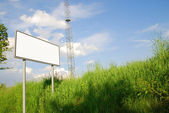 Blank billboard background — Stock Photo