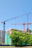 Steel crane at building site — Foto Stock