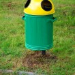 Green wheelie recycle bin - Stock Photo