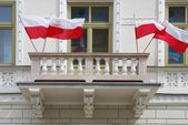 Polska flaggan — Stockfoto