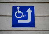 Sign for disabled parking — Stockfoto