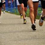 Постер, плакат: Marathon runners