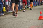 Triatletas en maratón — Foto de Stock