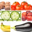 Fruit and vegetables collage — Stock Photo