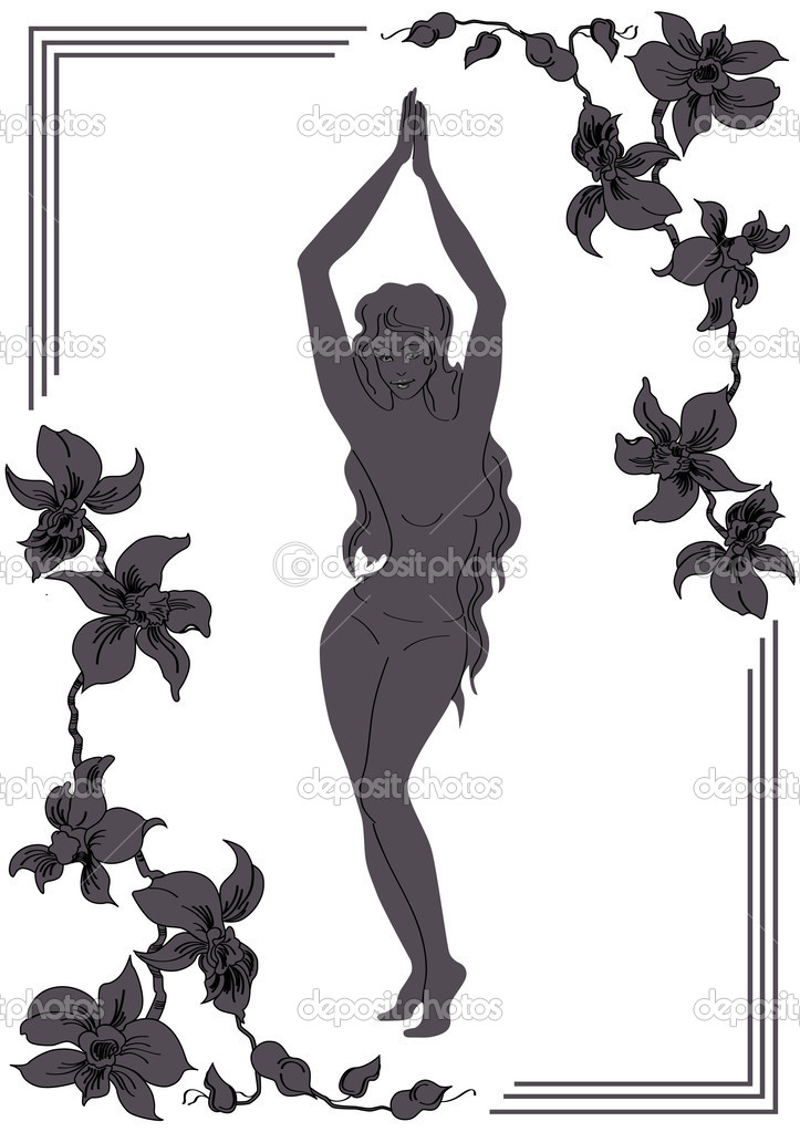 Belly dance, belly, illustration, vector — Stock Vector #3160540