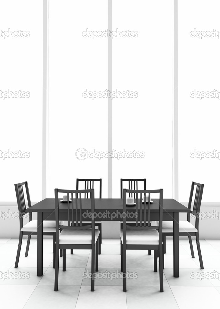3d dining table — Stock Photo #3581187