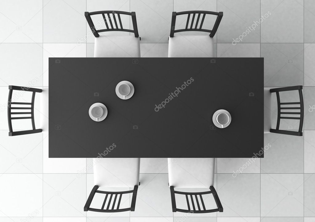 3d dining table — Stock Photo #3581308
