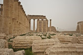 Colonnade, the ruins of ancient Palmyra, Syria — Stock Photo