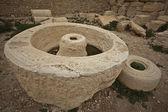 Antiguo dispositivo para exprimir el aceite de oliva. palmira. siria — Foto de Stock