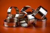 Steel chromium-plated rings — Stock Photo