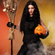 Evil but sexy witch — Stock Photo