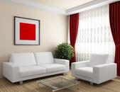 Interior with white furniture — Stock Photo