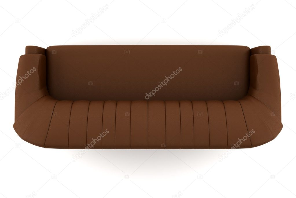 brown leather sofa isolated - photo #1