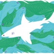White Shark. — Stock Vector