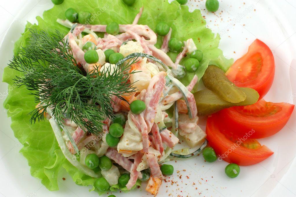 Вкусные салаты с овощами