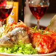 Fish with red wine — Stock Photo #2725282