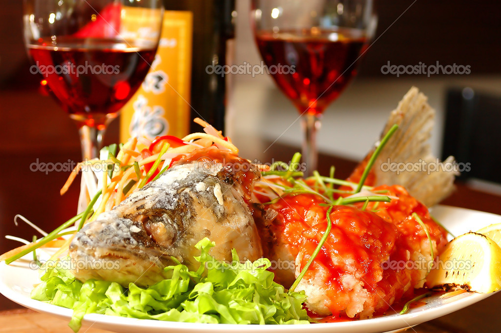 Fish with red wine stock photo kosoff 2725282 for Red wine with fish