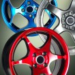 Sport car wheel - Foto Stock