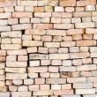 Wall from old bricks — Stock Photo