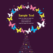 Frame for text with butterfly ornament. — Vector de stock