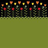 Vector grunge floral background — Cтоковый вектор