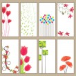 Vertical spring Banner Collection - Stock Vector