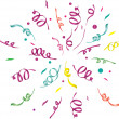 Confetti (light background). vector illustration -  