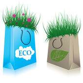 Eco Shopping bags. vector illustration — Stock Vector