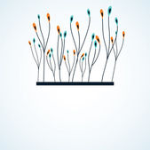 Branch of color flowers. vector illustration — Stock Vector