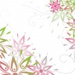 Vector grunge floral background — Stock Vector #3699328