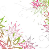 Vector grunge floral background — Stock Vector