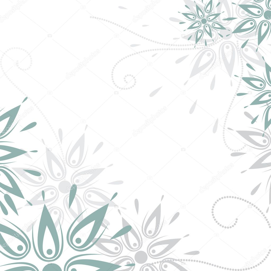 Vector grunge floral background — Stock Vector #3699316