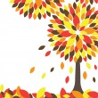Colorful Autumn tree. Vector illustration — Stock Vector