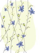 Fiori primaverili colorati. illustrazione vettoriale — Vettoriale Stock