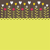 Colorful Spring flowers . Vector illustration — Stock Vector