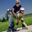 Stock Photo: Family sport