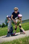Family sport — Stock Photo